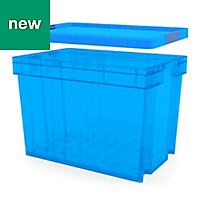 Xago Heavy duty Blue Plastic box lid for 51L & 68L boxes
