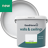 GoodHome Walls & ceilings North pole Silk Emulsion paint 5L