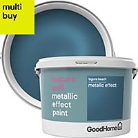GoodHome Feature wall Laguna beach Metallic effect Emulsion paint 2L