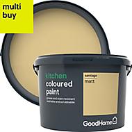 GoodHome Kitchen Santiago Matt Emulsion paint 2.5L