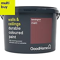 GoodHome Durable Kensington Matt Emulsion paint 2.5L