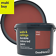 GoodHome Durable Fulham Matt Emulsion paint 2.5L