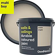 GoodHome Durable Puebla Matt Emulsion paint 5L