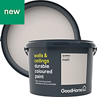 GoodHome Durable Quebec Matt Emulsion paint 2.5L