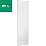 Valla White Sliding wardrobe door (H)2500 mm (W)622mm