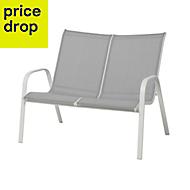 Janeiro Grey Metal Garden bench
