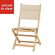 Molara Wooden Garden chair, Pack of 2