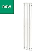 GoodHome Wilsona Vertical Designer Radiator White Painted (H)1800 mm (W)380 mm