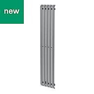 GoodHome Wilsona Vertical Designer Radiator Grey Painted (H)1800 mm (W)380 mm