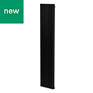 GoodHome Kensal Vertical Designer Radiator Anthracite Painted (H)1800 mm (W)368 mm