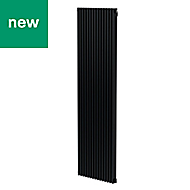 GoodHome Kensal Vertical Designer Radiator Anthracite Painted (H)1800 mm (W)500 mm