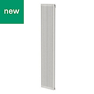 GoodHome Kensal Vertical Designer Radiator White Painted (H)1800 mm (W)368 mm