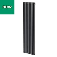 GoodHome Kensal Vertical Designer Radiator Grey Painted (H)1800 mm (W)500 mm