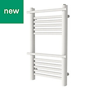 GoodHome Solna 260W White Towel warmer (H)700mm (W)400mm