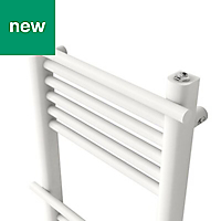 GoodHome Solna 260W White Towel warmer (H)700mm (W)400mm