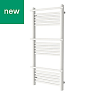 GoodHome Solna 459W White Towel warmer (H)1100mm (W)500mm