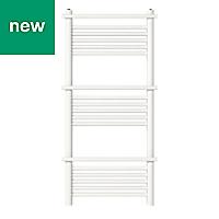 GoodHome Solna 459W White Towel warmer (H)1100mm (W)500mm