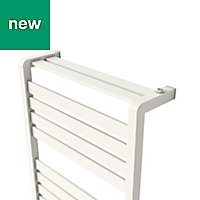 GoodHome Loreto 679W White Towel warmer (H)1300mm (W)500mm