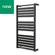 GoodHome Loreto 546W Anthracite Towel warmer (H)1000mm (W)500mm