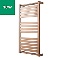 GoodHome Loreto 546W Copper Towel warmer (H)1000mm (W)500mm