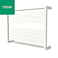 GoodHome Loreto 535W White Towel warmer (H)600mm (W)800mm
