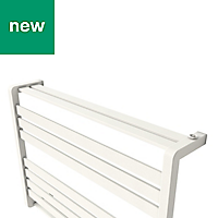 GoodHome Loreto 535W White Towel warmer (H)600mm (W)800mm