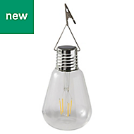 Clear Bulb Solar-powered LED External Hanging light