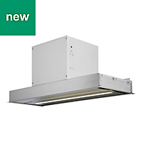 GoodHome Bamia GHIH80 Black Glass & stainless steel Inset Cooker hood, (W)80cm