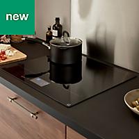 GoodHome Bamia GHIHAC60 4 Zone Black Ceramic glass Induction Hob, (W)590mm