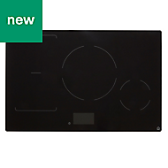 GoodHome GHIHAC80 4 Zone Black Ceramic glass Induction Induction hob, (W)800mm