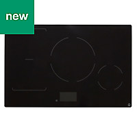 GoodHome Bamia GHIHAC80 4 Zone Black Ceramic glass Induction Hob, (W)800mm