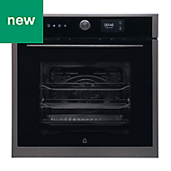 GoodHome Bamia GHMF71 Black Integrated Electric Single Multifunction Oven