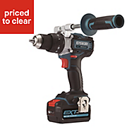 Erbauer EXT Cordless 18V? 5Ah Lithium-ion Brushless Combi Drill 2 batteries ECDT18-Li-2