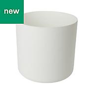 GoodHome Round Plastic White Pot (H)290mm (Dia)305mm