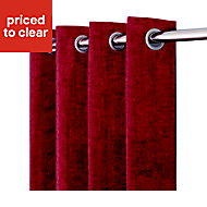 Pahea Ruby Chenille Unlined Eyelet Curtain (W)135cm (L)260cm