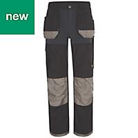 "Site Chinook Black & Grey Men's Trousers, W30"" L34"""
