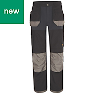 "Site Chinook Black & Grey Men's Trousers, W32"" L34"""
