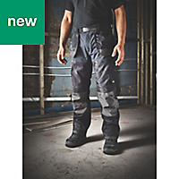 "Site Chinook Black & Grey Men's Trousers, W36"" L34"""