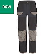 "Site Chinook Black & Grey Men's Trousers, W38"" L34"""