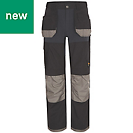 "Site Chinook Black & Grey Men's Trousers, W40"" L34"""