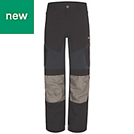 "Site Ridgeback Black & Grey Men's Trousers, W32"" L32"""
