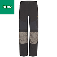 "Site Ridgeback Black & Grey Men's Trousers, W34"" L32"""
