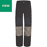 "Site Ridgeback Black & Grey Men's Trousers, W36"" L32"""