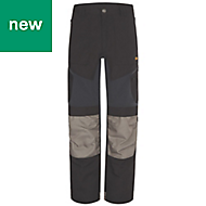 "Site Ridgeback Black & Grey Men's Trousers, W38"" L32"""