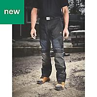 "Site Ridgeback Black & Grey Men's Trousers, W40"" L32"""