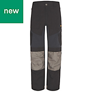 "Site Ridgeback Black & Grey Men's Trousers, W40"" L32"""