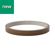 GoodHome Chia Horizontal woodgrain effect Edging tape, (L)10m