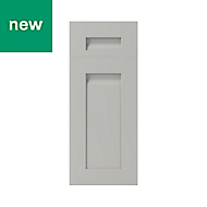 GoodHome Garcinia Matt stone integrated handle shaker Drawerline door & drawer front, (W)300mm