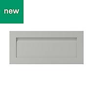 GoodHome Garcinia Matt stone integrated handle shaker Drawer front, bridging door & bi fold door (W)800mm