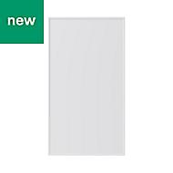 GoodHome Pasilla Matt white thin frame slab Highline Cabinet door (W)400mm